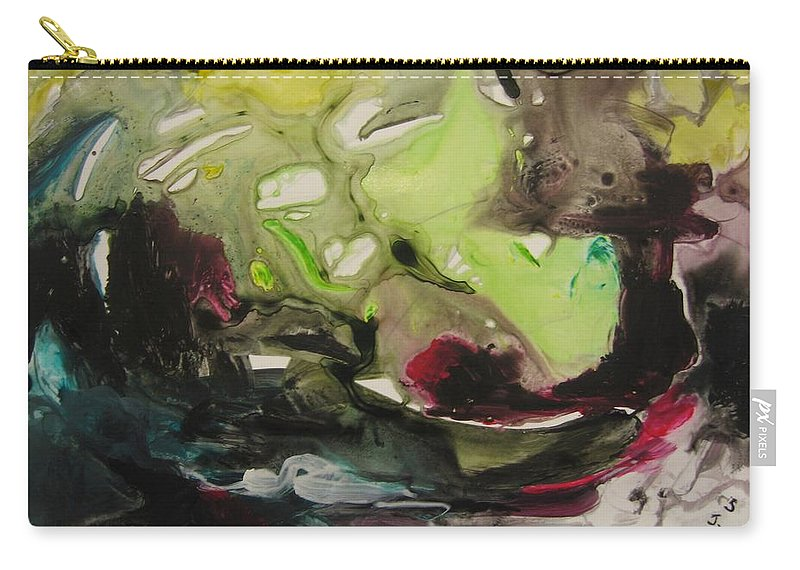 Abstract Paintings Carry-all Pouch featuring the painting Color Fever 116 by Seon-Jeong Kim