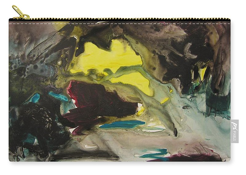 Abstract Paintings Carry-all Pouch featuring the painting Color Fever 117 by Seon-Jeong Kim