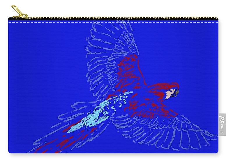 Carry-all Pouch featuring the painting Color In Flight by Jack Bunds