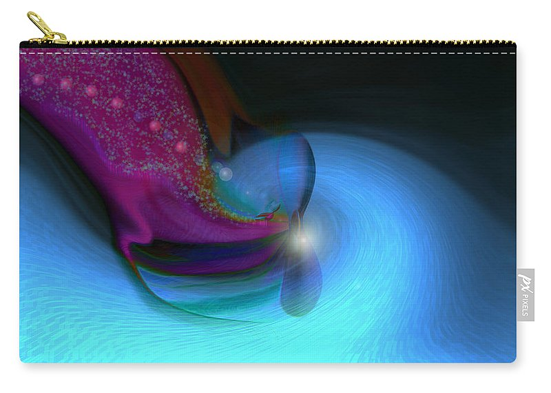 Abstract Art Carry-all Pouch featuring the digital art Color Movements by Linda Sannuti