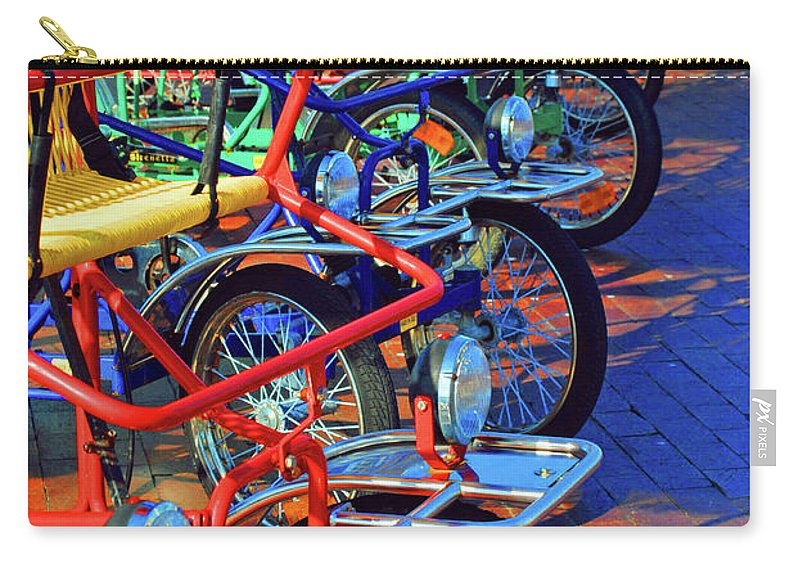 Bikes Carry-all Pouch featuring the photograph Color Of Bikes by Jost Houk