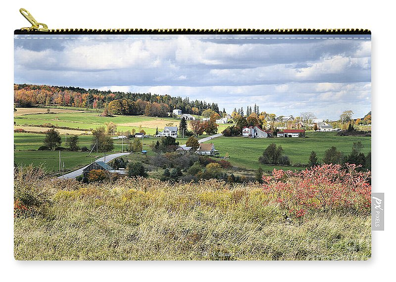 Vermont Carry-all Pouch featuring the photograph Color On The Hills by Deborah Benoit