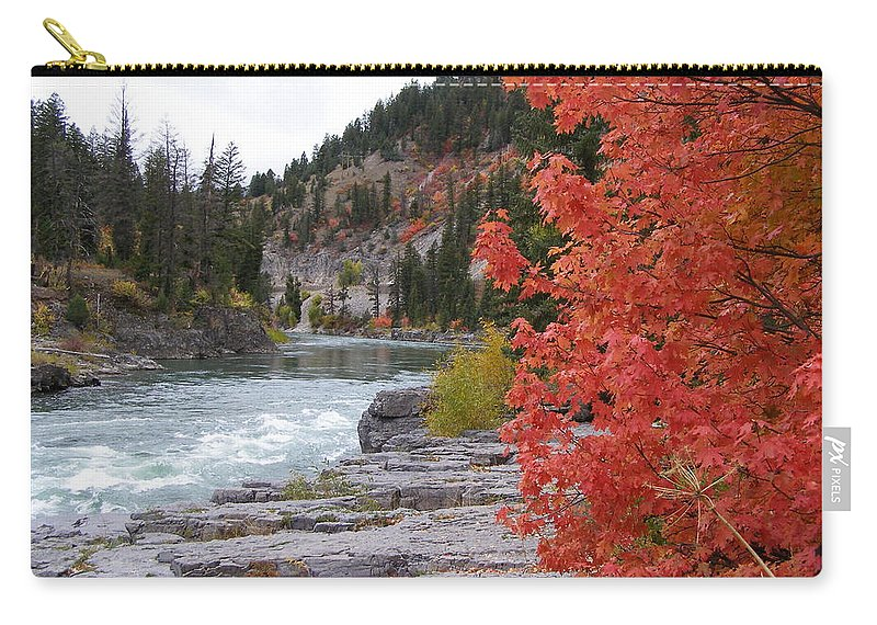 River Carry-all Pouch featuring the photograph Color On The Snake by DeeLon Merritt