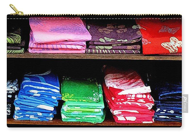 Batik Carry-all Pouch featuring the photograph Color Rules by Ian MacDonald