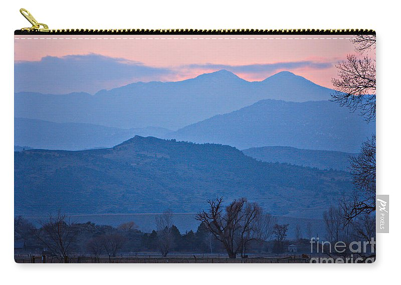 Boulder Carry-all Pouch featuring the photograph Colorado Country - Boulder County by James BO Insogna
