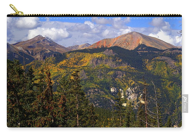 Mountain Carry-all Pouch featuring the photograph Colorado Fall by Marty Koch