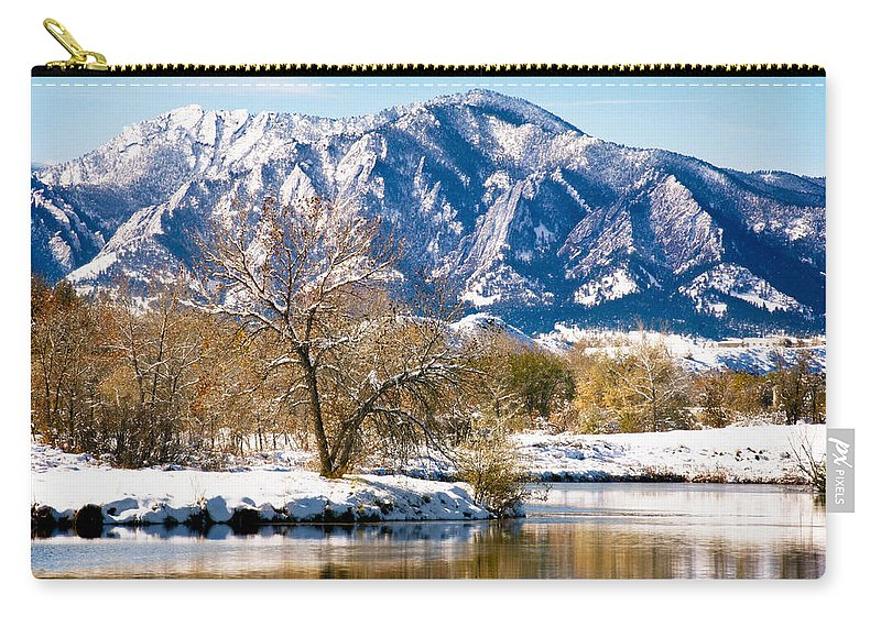 Colorado Carry-all Pouch featuring the photograph Colorado Flatirons 2 by Marilyn Hunt