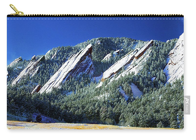 Colorado Carry-all Pouch featuring the photograph All Five Colorado Flatirons by Marilyn Hunt
