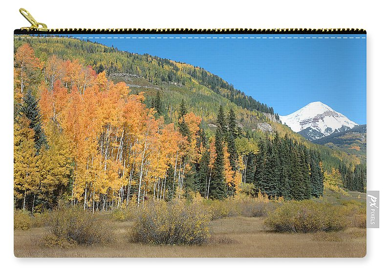 Aspen Carry-all Pouch featuring the photograph Colorado Gold by Jerry McElroy