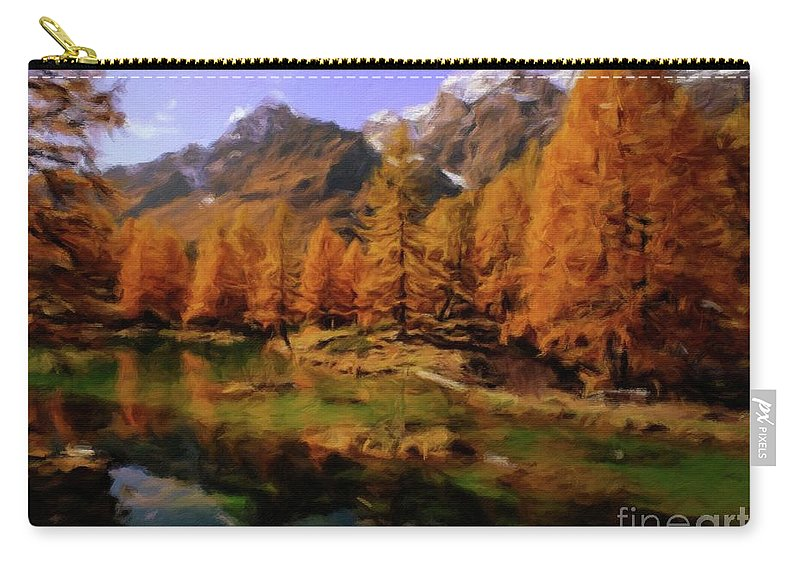 Landscape Carry-all Pouch featuring the painting Colorado Nature by Sarah Kirk