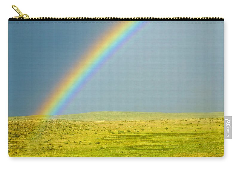 Colorado Carry-all Pouch featuring the photograph Colorado Rainbow by Marilyn Hunt