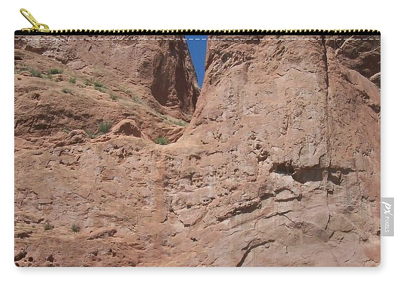 Colorado Carry-all Pouch featuring the photograph Colorado Redrock by Anita Burgermeister