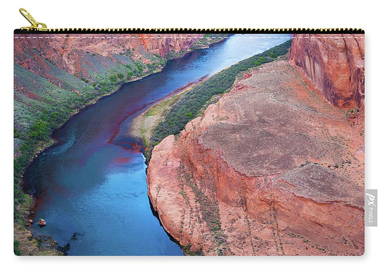 America Carry-all Pouch featuring the photograph Colorado River Bend by Inge Johnsson