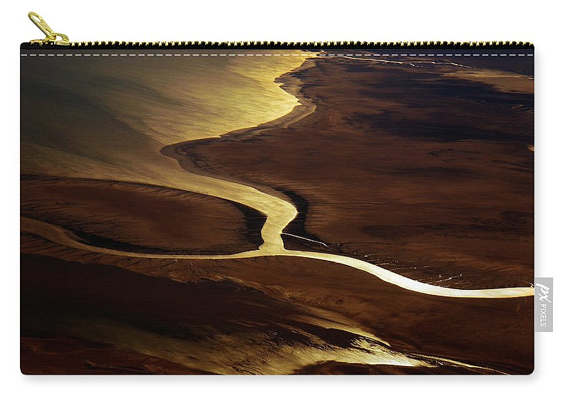 River Carry-all Pouch featuring the photograph Colorado River Delta by Strato ThreeSIXTYFive