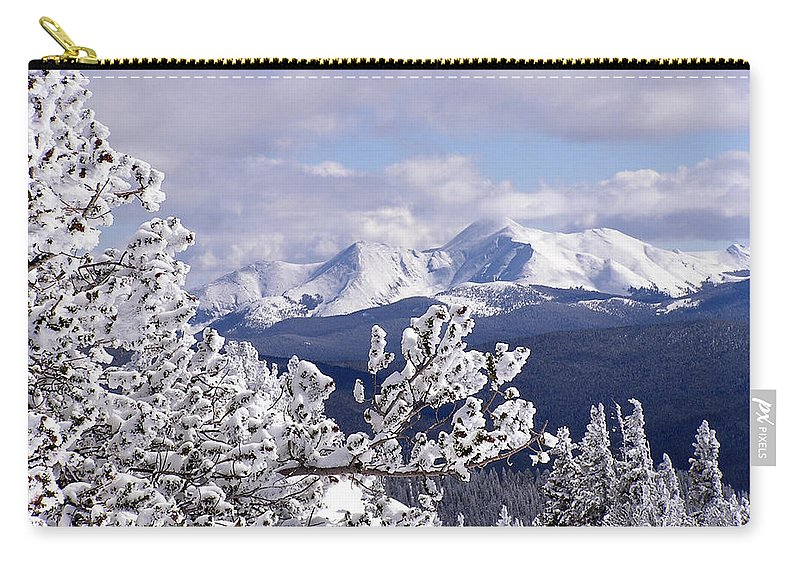 Mountains Carry-all Pouch featuring the photograph Colorado Sawatch Mountain Range by Carol Milisen