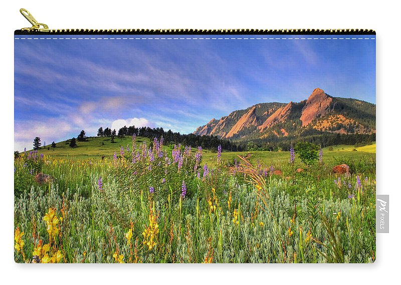 Colorado Carry-all Pouch featuring the photograph Colorado Wildflowers by Scott Mahon
