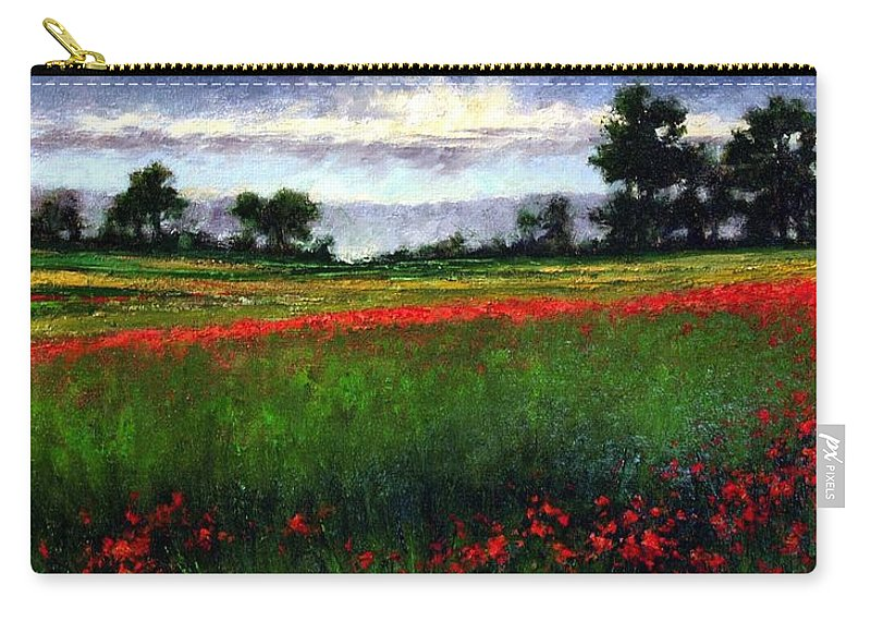 Landscape Carry-all Pouch featuring the painting Colorburst by Jim Gola