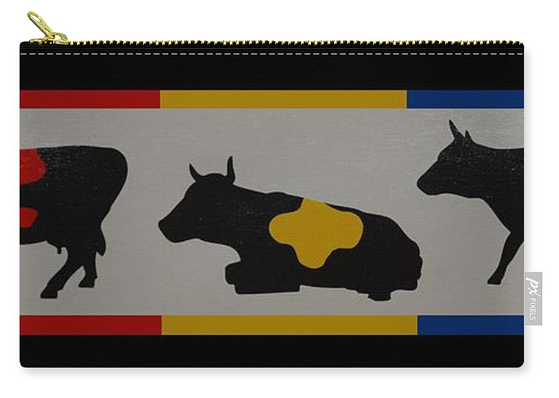 Cows Carry-all Pouch featuring the photograph Colored Cows by Rob Hans
