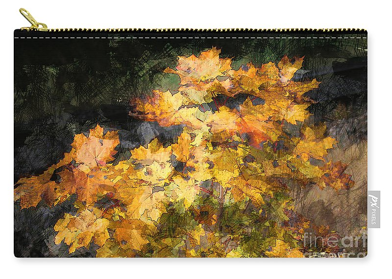 Maple Carry-all Pouch featuring the photograph Colored Maple Leaves by Jutta Maria Pusl