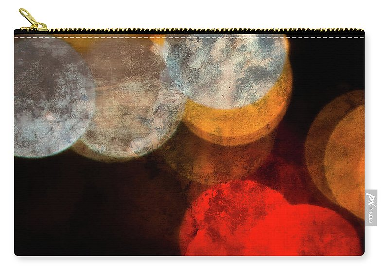Colored Moons Carry-all Pouch featuring the photograph Colored Moons 1 by Doug Sturgess