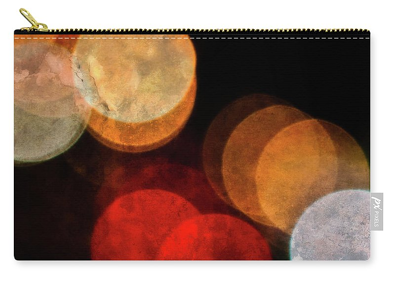 Colored Moons Carry-all Pouch featuring the photograph Colored Moons 3 by Doug Sturgess