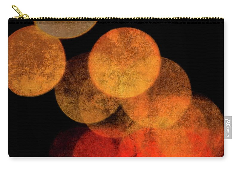 Colored Moons Carry-all Pouch featuring the photograph Colored Moons 4 by Doug Sturgess