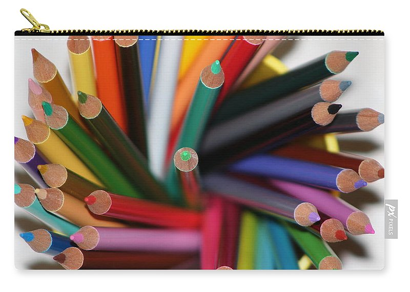 Colored Pencils Photography on Carry-All Pouch