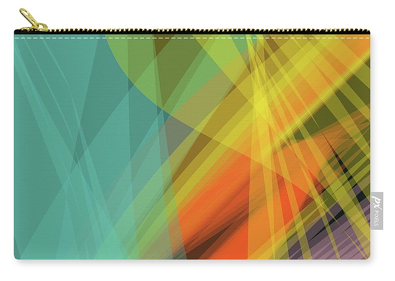 Wave Carry-all Pouch featuring the digital art Colorful Abstract Vector Background Banner, Transparent Wave Lin by Svetlana Corghencea