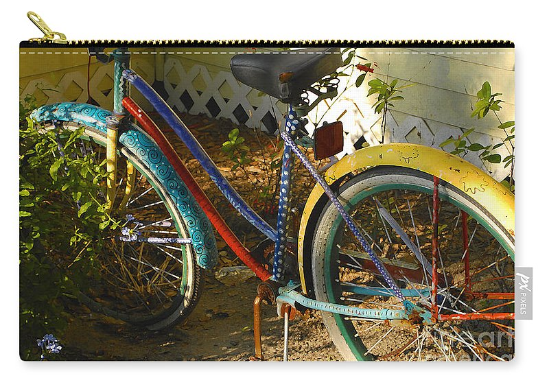 Bicycle Carry-all Pouch featuring the photograph Colorful Bike by David Lee Thompson