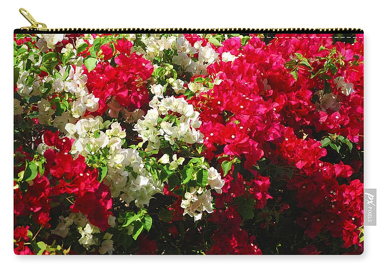Bougainvilleas Carry-all Pouch featuring the photograph Colorful Bougainvilleas by Susanne Van Hulst