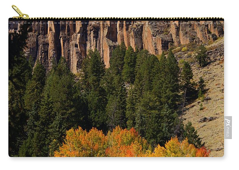 Fall Colors Carry-all Pouch featuring the photograph Colorful Canyon by Marty Koch