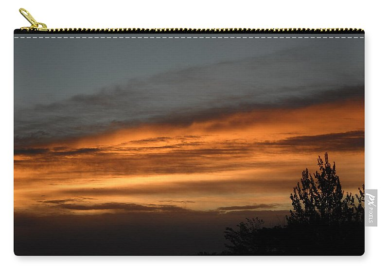 Dawn Carry-all Pouch featuring the photograph Colorful Clouds In Dawn Sky by Kent Lorentzen