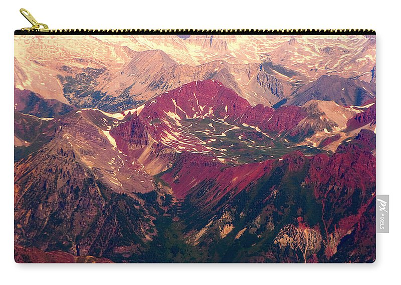 Colorado Carry-all Pouch featuring the photograph Colorful Colorado Rocky Mountains by James BO Insogna