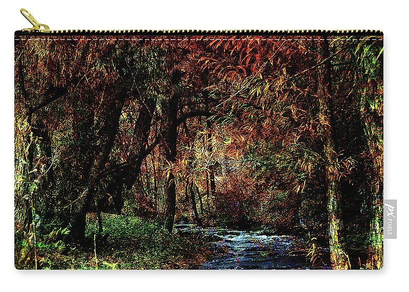 Creek Carry-all Pouch featuring the photograph Colorful Creek by Bob Welch
