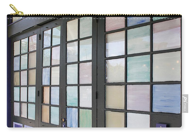 Architecture Carry-all Pouch featuring the photograph Colorful Doors by Todd Blanchard
