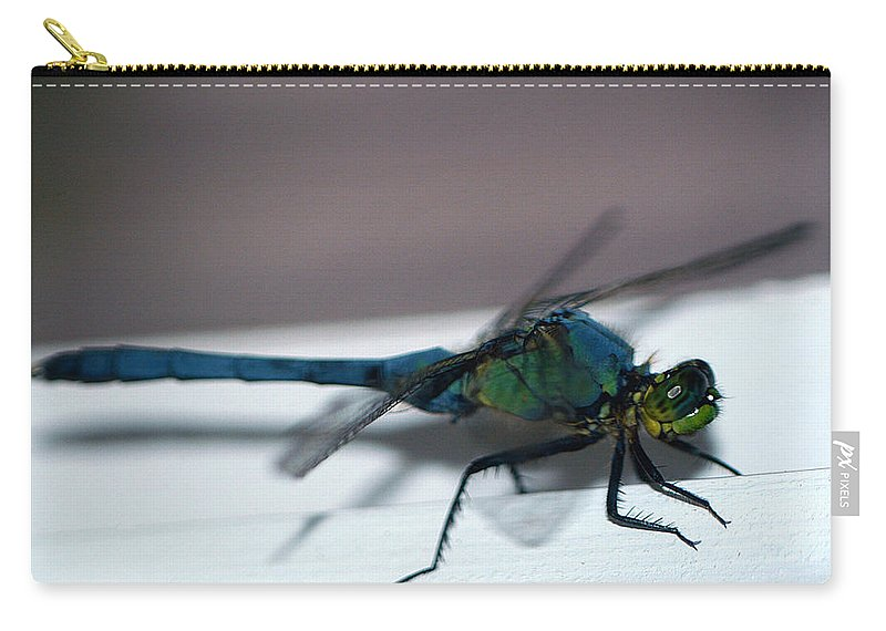 Clay Carry-all Pouch featuring the photograph Colorful Dragon by Clayton Bruster