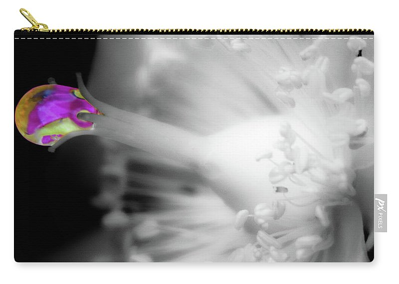 Water Drop Carry-all Pouch featuring the photograph Colorful Drop by Wolfgang Stocker