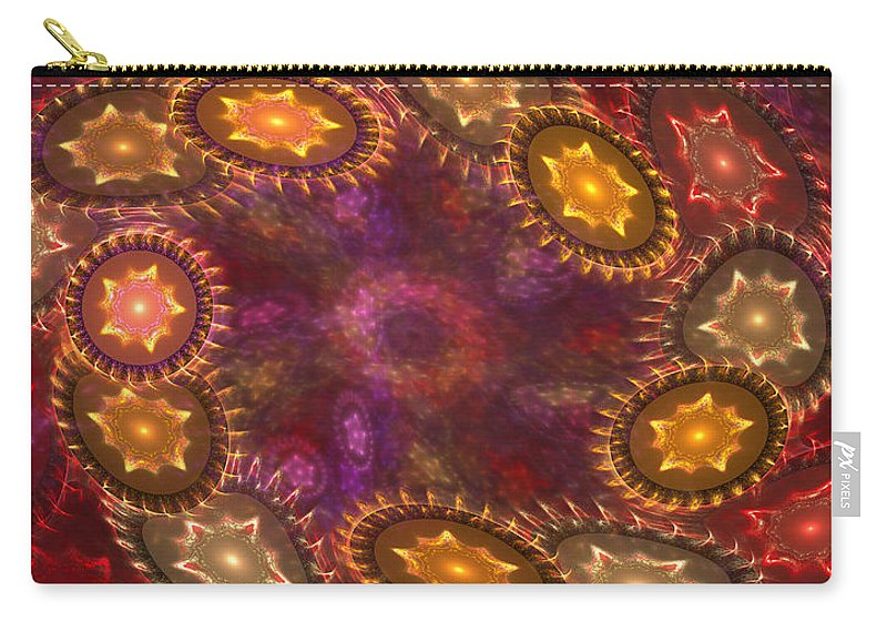 Stars Carry-all Pouch featuring the digital art Colorful Galaxy Of Stars by Deborah Benoit