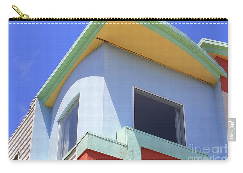 San Franciso Carry-all Pouch featuring the photograph Colorful House In San Francisco by Carol Groenen