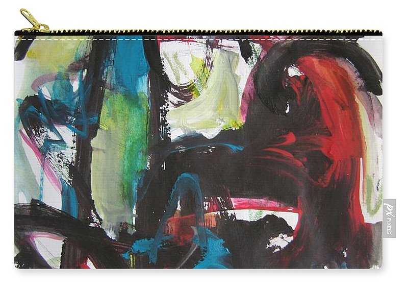 Abstract Paintings Carry-all Pouch featuring the painting Colorful Landscape1112 by Seon-Jeong Kim