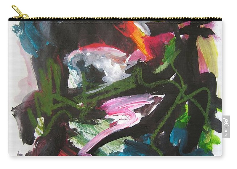 Abstract Paintings Carry-all Pouch featuring the painting Colorful Landscape1125 by Seon-Jeong Kim