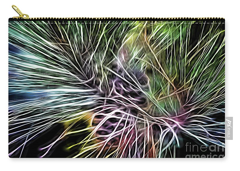 Colorful Carry-all Pouch featuring the photograph Colorful Lines by Carolyn Truchon
