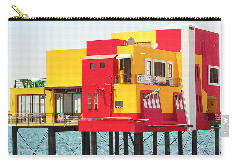 Colorful; Building; Mexico; Architecture; Sea; Ocean; Landscape Carry-all Pouch featuring the photograph Colorful Mexico by James BO Insogna