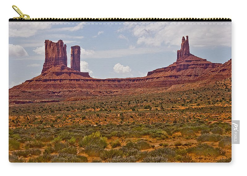 Monument Valley Carry-all Pouch featuring the photograph Colorful Monument Valley by James BO Insogna