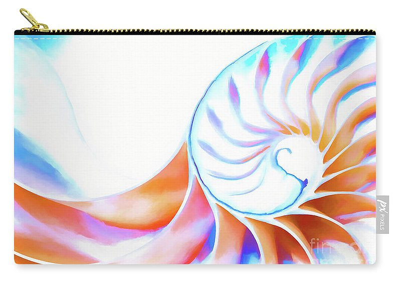 Nautilus Carry-all Pouch featuring the photograph Colorful Nautilus by Joe Geraci