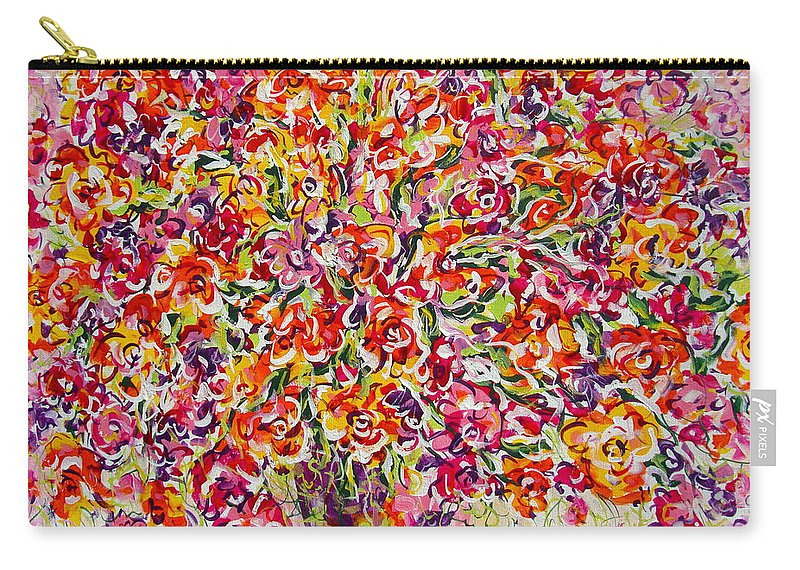 Framed Prints Carry-all Pouch featuring the painting Colorful Organza by Natalie Holland