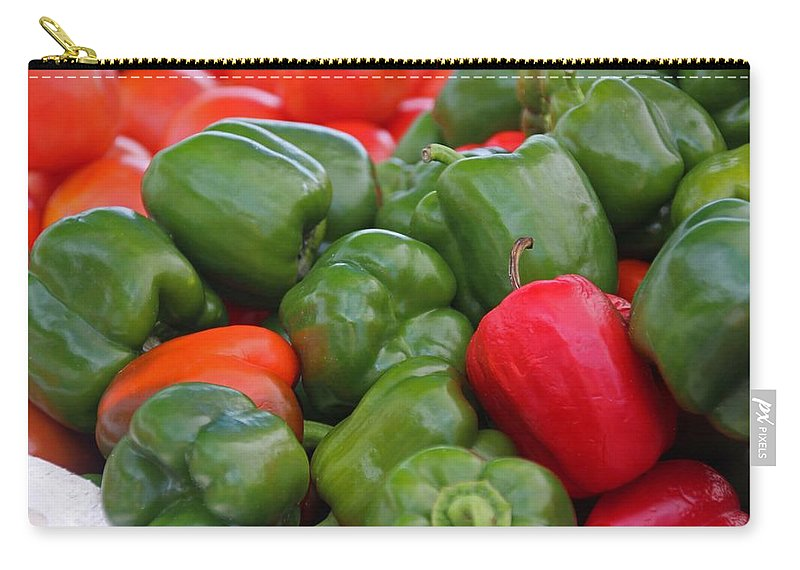 Pepper Carry-all Pouch featuring the photograph Colorful Peppers by Michiale Schneider