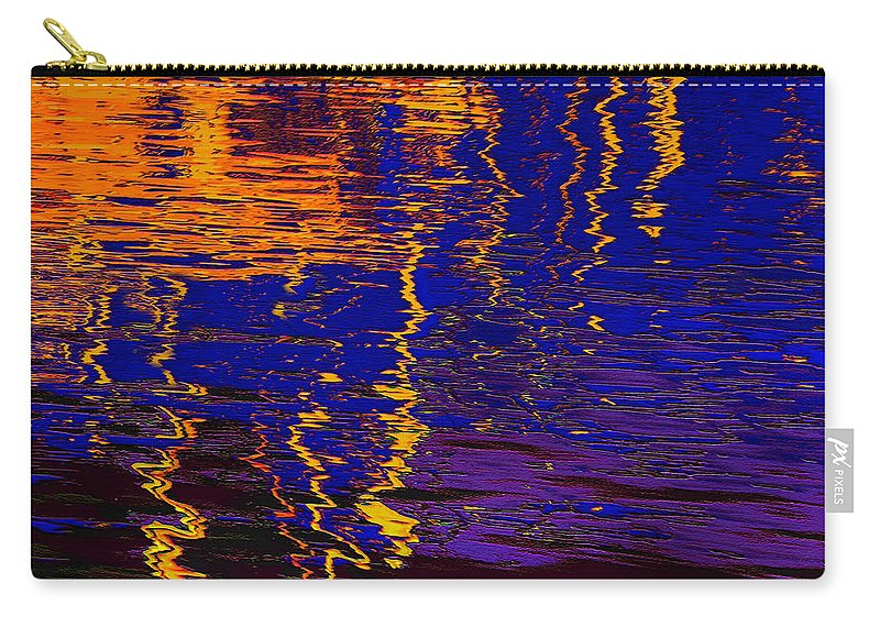 Abstract Carry-all Pouch featuring the digital art Colorful Ripple Effect by Danuta Bennett