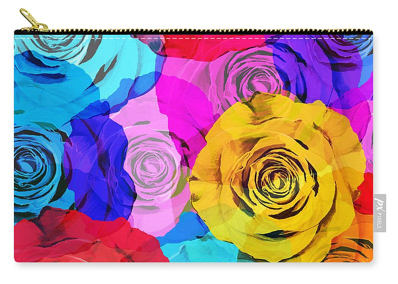 Affection Carry-all Pouch featuring the photograph Colorful Roses Design by Setsiri Silapasuwanchai