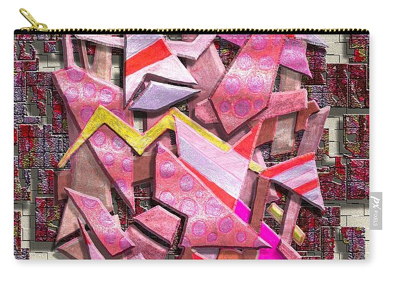 Abstract Carry-all Pouch featuring the digital art Colorful Scrap Metal by Mark Sellers